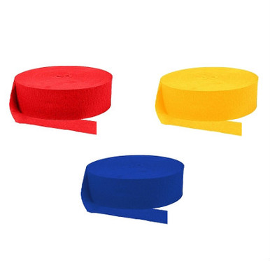 Solid Color Crepe Streamers (3 pc.)