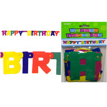 Multi-Color Happy Birthday Jointed Banner