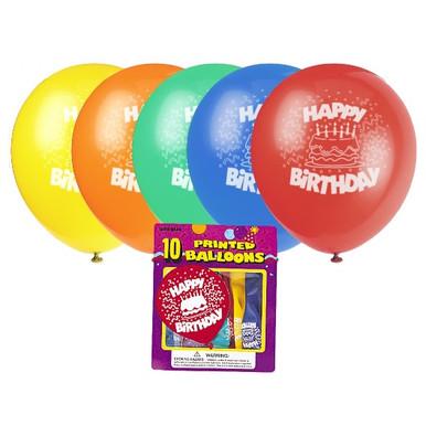 Happy Birthday Cake Latex Balloons