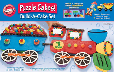 Transportation Puzzle Cakes Silicone Set Pack