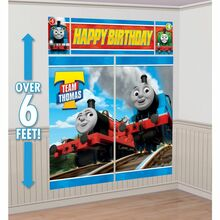 Thomas u0026 Friends Giant Wall Scene Party Decor & Thomas the Tank Engine Train Birthday Party Supplies and Favors