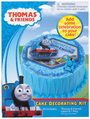 Thomas Tank Engine Cake Decoration Kit : Thomas Train Layon Cake Decor Kit With Cupcake Ring ...