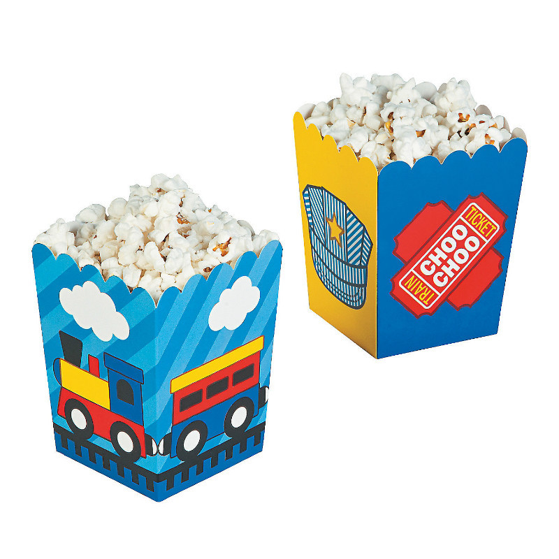 how to make popcorn boxes with paper