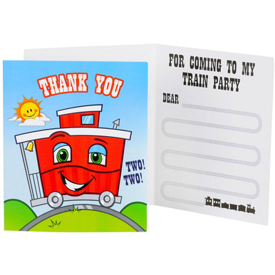 Two-Two Train 2nd Birthday Thank-You Notes