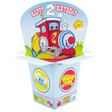Two-Two Train 2nd Birthday Centerpiece
