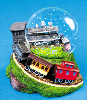 Steam Engine Water Globe