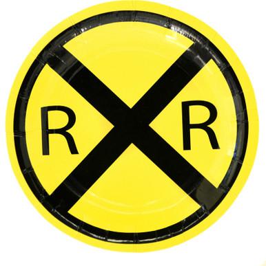 Railroad Crossing Train Party Dessert Plates (8 ct)