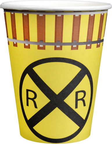 Railroad Crossing Train Party 12-oz Paper Cups (8 ct)