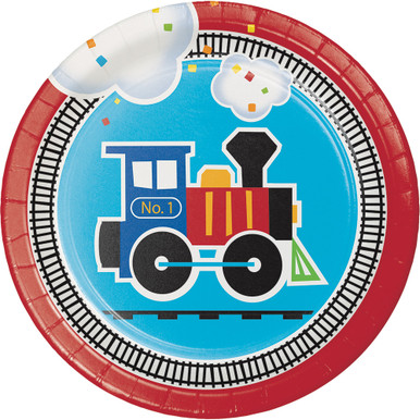 All Aboard Train Party Dessert Plates (8 ct)