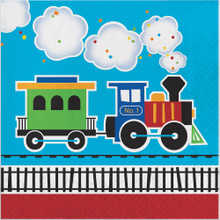 All Aboard Train Party Luncheon Napkins (16 ct)