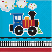 All Aboard Train Party Beverage Napkins (16 ct)
