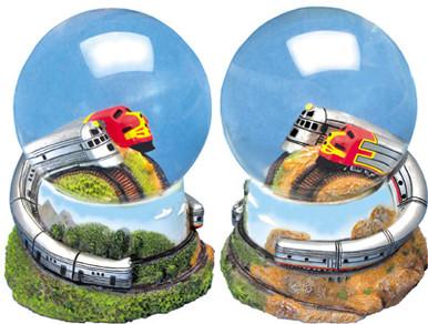 Diesel Locomotive Water Globe