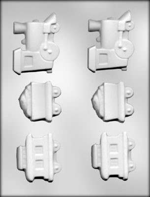 Locomotive, Caboose & Coal Car Candy Mold
