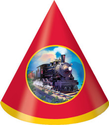 Clickety-Clack Train Cone Hats