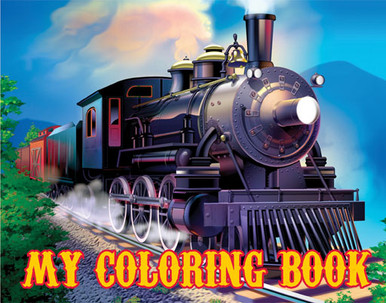 Clickety-Clack Train Coloring Book