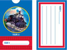 Clickety-Clack Train Scavenger Hunt Clue Cards