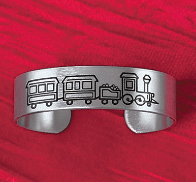 Childs Train Cuff Bracelet