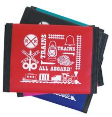 Train Icons Wallet Nylon Velcro