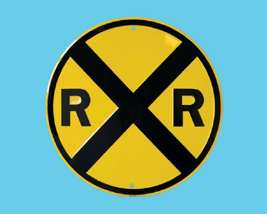 Railroad Crossing Metal Sign