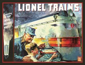 Lionel 1935 Cover Tin Sign