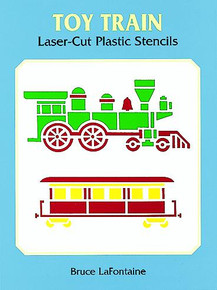 Toy Train Laser-Cut Plastic Stencils