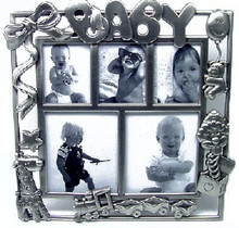Pewter Baby Train Photo Frame