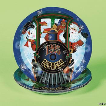 Holiday Train Dessert Plates