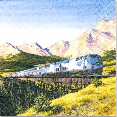 Amtrak Train Luncheon Napkins