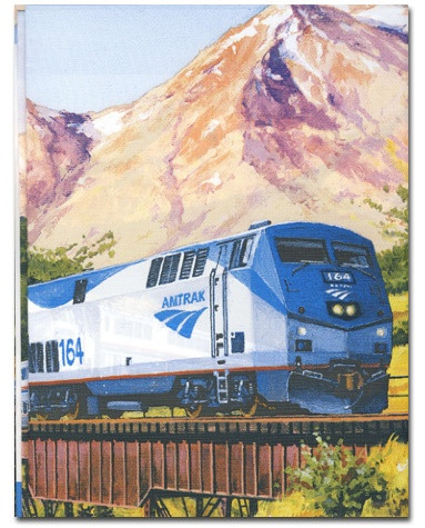 Amtrak Train Tablecover