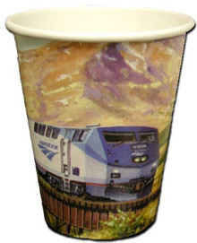 Amtrak Train 9 oz Paper Cups