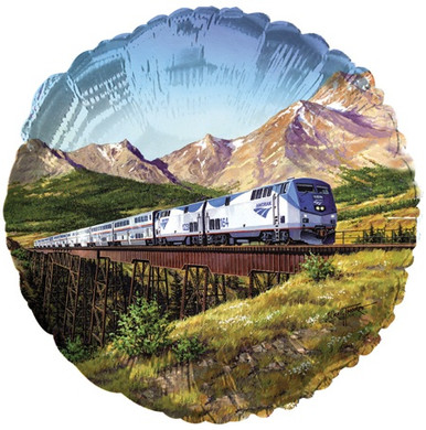 Amtrak Train Mylar Balloon