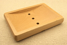Large Rectangular Beech Wood Soap Dish