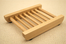 Flat Dowel Rod Beech Wood Soap Dish