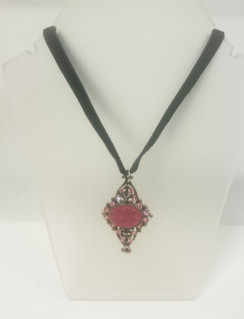 Gregory Bolton pink pendant necklace