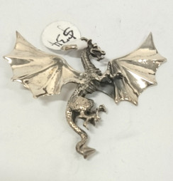Silver Flying Dragon pendant