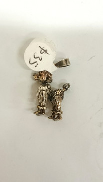 Silver Articulated Poodle pendant