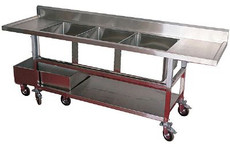 3 Compartment Sinks L:96 x W:25 x H:30