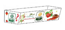 Strawberry (Organic) Tray 3-Pack 250 Pieces