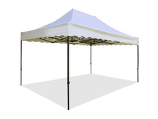 Queen Palm Canopy Frame and Flame Retardant Top (Size:10'x15')