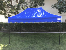 Queen Palm Canopy Frame and Flame Retardant Top (Size:8'x12')