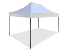 California King Palm Canopy Frame and Flame Retardant Top (Size:10'x15')