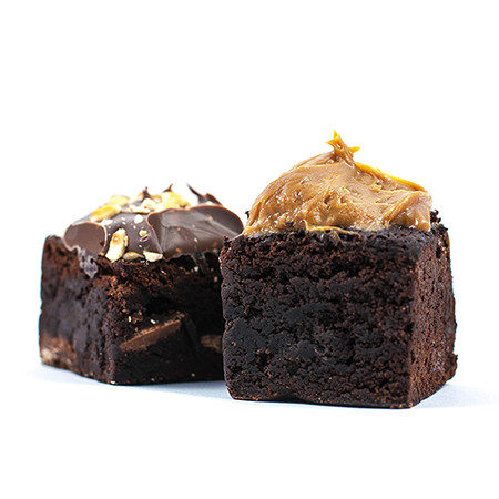 2 x Brownie Cubes (Nutella + Salted Caramel) (GF)
