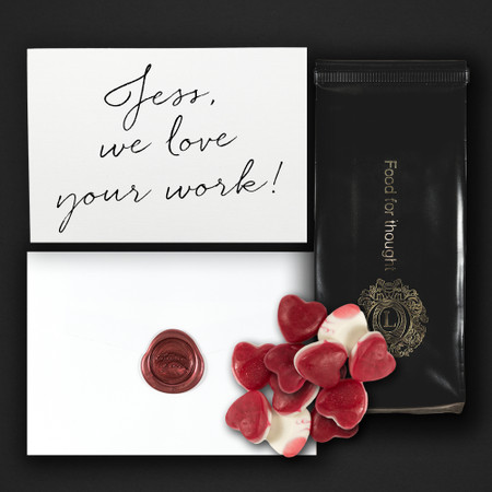 Personalised Wax Sealed Card + Treats/Wine - Welcome