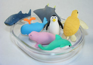Ocean Creature Erasers in Gift Box