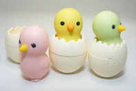 Baby Chick Eraser, Set of 3