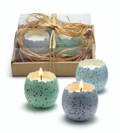 Cracked Egg Candles, Set of 3