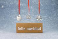 Feliz Navidad Ornaments - Giftbox set of 3