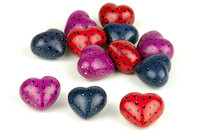 Bespeckled Mini Soapstone Hearts, Set of 12