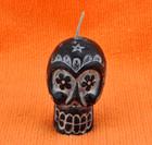 Small Black Sugar Skull Candle