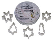 Mini Cookie Cutter Set, 5 Piece - Snowflakes